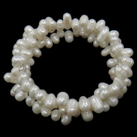 Cultured Freshwater Pearl Bracelets, 3-strand, 5--6mm, Sold By Strand