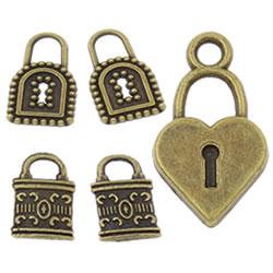 Zinc Alloy Lock Pendants