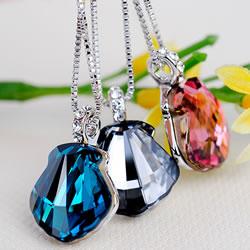 CRYSTALLIZED™ Brass Necklace