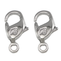 Stainless Steel Lobster Claw Clasp, 316 Stainless Steel, hand polished, original color, 7x13x3mm, Hole:Approx 1mm, Sold By PC