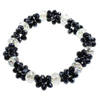 Crystal Bracelets, brass lobster clasp, faceted & two tone, 4x6mm, 8x11mm, Length:Approx 8.5 Inch, Sold By Strand