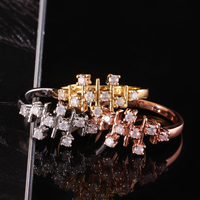 comeon® Finger Ring, Brass, plated, different size for choice & with cubic zirconia, more colors for choice, 10mm, Sold By PC