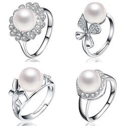 Pearl Sterling Silver Finger Ring