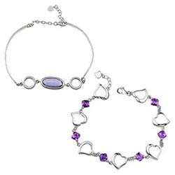 Cubic Zirconia Sterling Silver Bracelets