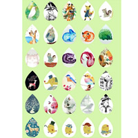 Time Gem Glue Picture, Paper, animal design & time gem jewelry & DIY & mixed, 13x18mm, Sold By PC