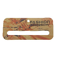 Cardboard Necklace & Bracelet Display Card, Rectangle, earth yellow, 154x70x1mm, Hole:Approx 8mm, 130x13mm, Sold By PC