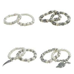Zinc Alloy Pearl Bracelets