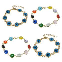 Lampwork Brass Bracelets