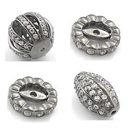 Rhinestone Sterling Silver Beads
