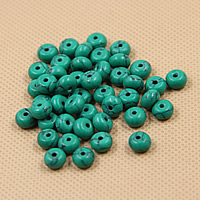 Natural Turquoise Beads, Rondelle, different size for choice, green, Hole:Approx 1mm, Sold By PC