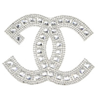 Rhinestone Hot Fix Motif, with Glue Film & Glass, Letter C, faceted, clear, 95x77x3.5mm, Sold By PC
