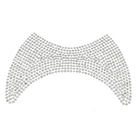 Rhinestone Hot Fix Motif, with Glue Film, clear, 118x79x2mm, Sold By PC