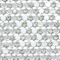 Rhinestone Hot Fix Motif, with Glue Film & Aluminum, Rectangle, platinum color plated, 398x3mm, Length:Approx 43 Inch, Sold By PC