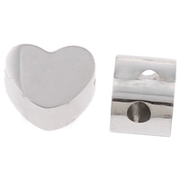 Stainless Steel Beads, Heart, original color, 8x6x5mm, Hole:Approx 1mm, Sold By PC