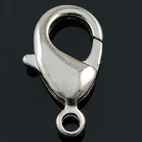 Brass Lobster Claw Clasp, more colors for choice, nickel, lead & cadmium free, Hole:Approx 1.5mm, 2000PCs/Bag, Sold By Bag