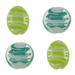 Inner Twist Lampwork Beads