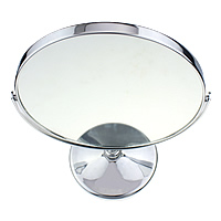Aluminium Cosmetic Mirror, Aluminum, with Glass, Flat Round, platinum color plated, disassembly and assembly, 215x320x16mm, Sold By PC