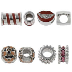 Stainless Steel European Beads