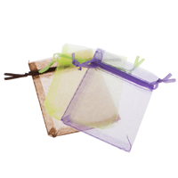 Organza Jewelry Pouches, solid color, more colors for choice, 10x12cm, Sold By PC