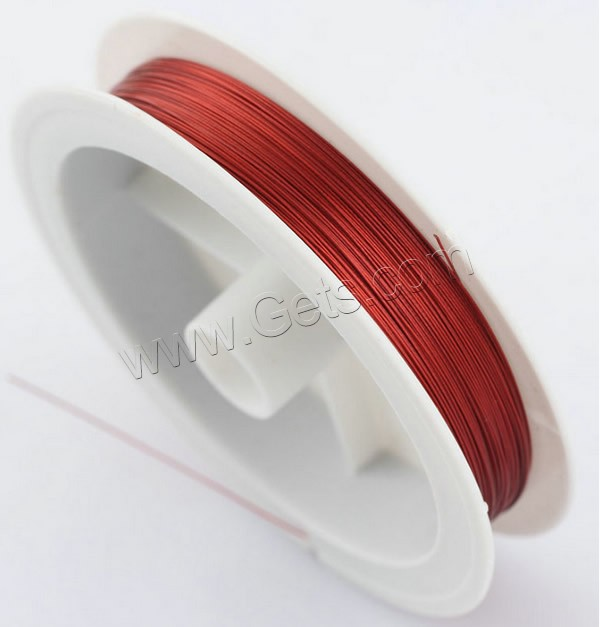 Tiger Tail Wire, with plastic spool & Nylon Coated Rubber Rope, 7-yarn & different size for choice, more colors for choice, 100m/PC, Sold By PC