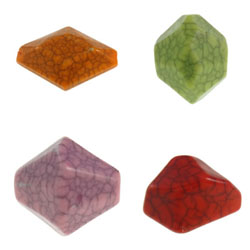 Crackle Acrylic Beads