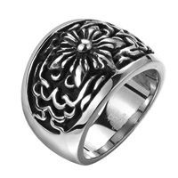 comeon® Finger Ring, Stainless Steel, different size for choice & blacken, 25x18mm, Sold By PC