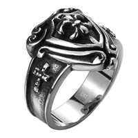 comeon® Finger Ring, Stainless Steel, different size for choice & blacken, 26x21mm, Sold By PC