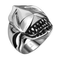 comeon® Finger Ring, Stainless Steel, different size for choice & blacken, 26x31mm, Sold By PC