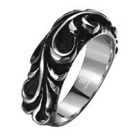 comeon® Finger Ring, Stainless Steel, different size for choice & blacken, 25x8mm, Sold By PC