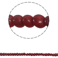 Natural Coral Beads, Flat Round, deep red, 7x3mm, Hole:Approx 1mm, Length:Approx 15.3 Inch, Approx 76PCs/Strand, Sold By Strand
