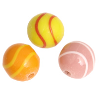 Handmade Lampwork Beads, Round, more colors for choice, 12mm, Hole:Approx 2mm, Sold By PC