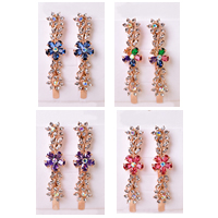 Hair Slide, Zinc Alloy, Flower, rose gold color plated, with Czech