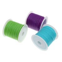 Plastic Cord, with plastic spool, faceted, mixed colors, 3mm, 15PCs/Bag, 5m/PC, Sold By Bag