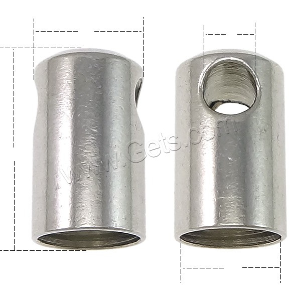 Stainless steel end caps column gets