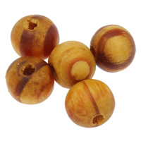 Dyed Wood Beads, Round, different size for choice, 7000PCs/Bag, Sold By Bag