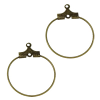 Brass Hoop Earring Components, plated, more colors for choice, 20x24.5x1.5mm, Hole:Approx 0.5mm, 5000PCs/Bag, Sold By Bag