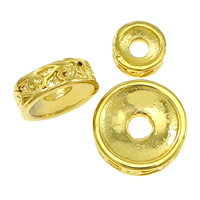 Brass Spacer Beads, gold color plated, different size for choice, Sold By PC