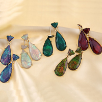 Resin Zinc Alloy Earring, with Resin, stainless steel post pin, gold color plated, faceted, more colors for choice, 17x45mm, Sold By Pair