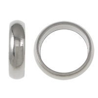 Stainless Steel Large Hole Beads, Donut, different size for choice, original color, Sold By PC