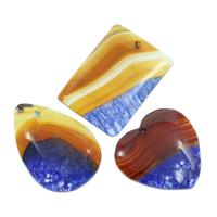 Ice Quartz Agate Pendants, natural, mixed, 34x51x8mm-36x62x6mm, Hole:Approx 2mm, 10PCs/Bag, Sold By Bag