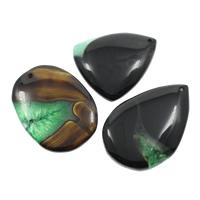 Ice Quartz Agate Pendants, natural, mixed, 33x51x6mm-44x41x7mm, Hole:Approx 2mm, 10PCs/Bag, Sold By Bag