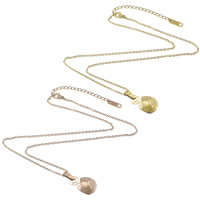 Stainless Steel Jewelry Necklace, with 2.5lnch extender chain, Fortune Cat, plated, oval chain, more colors for choice, 2x1.4x0.3mm, 11x19x3mm, Length:Approx 15.5 Inch, Sold By Strand