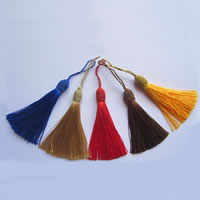 Decorative Tassel, Nylon Cord, mixed colors, 140mm, 100Strands/Bag, Sold By Bag