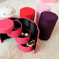 Multi Purpose Jewelry Display, Velveteen, with Cardboard, Column, more colors for choice, 135x75mm, Sold By PC