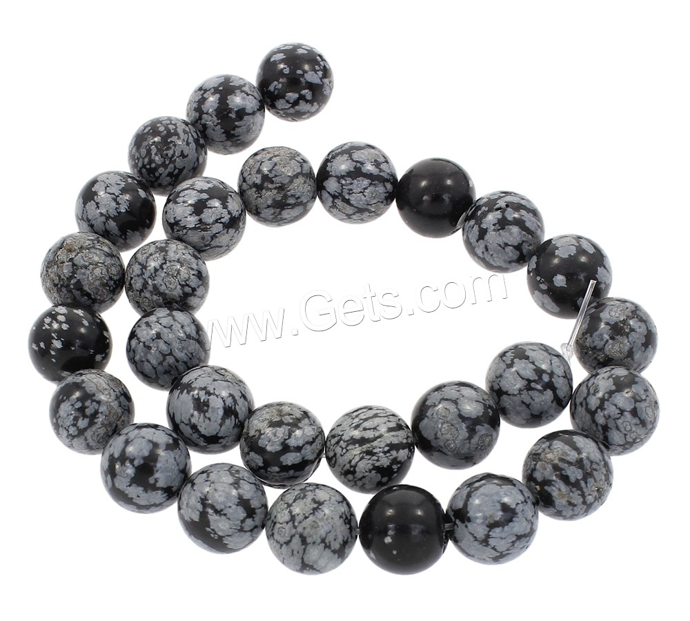 Snowflake Obsidian Bead, Round, synthetic, different size for choice, Hole:Approx 1mm, Length:Approx 15 Inch, Sold By Strand