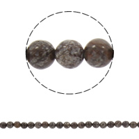 Snowflake Obsidian Bead, Round, synthetic, different size for choice, coffee color, Hole:Approx 1mm, Length:Approx 14.5 Inch, Sold By Strand
