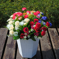Artificial Flower Home Decoration, Spun Silk, with Plastic, more colors for choice, 30cm, Sold By PC