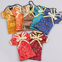 Mobile Phone Pouch, Silk, with Nylon Cord, Garment, mixed colors, 150x100mm, 100PCs/Bag, Sold By Bag