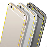 Mobile Phone Bumper, Aluminum, Rectangle, plated, different styles for choice, more colors for choice, Sold By PC