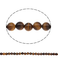 Tiger Eye Beads, Round, natural, different size for choice, Hole:Approx 1mm, Length:Approx 15.5 Inch, Sold By Strand